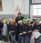 Second graders gave speeches on the occasion of the Palestinian Child Day