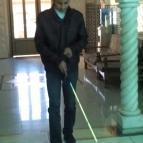 التدريب على المشي باستخدام العصا