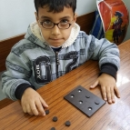 Magnetic Braille cell innovated by Shams Abu Jouda- open University student
