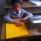 Using mathematical board to display geometric shapes